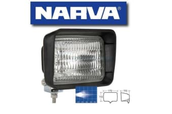 NARVA 72460 RUBBER BODY WORK LAMP LIGHT 12 VOLT 50W HALOGEN SEALED TRACTOR BEAM