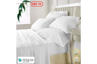 Tencel White Quilt Cover King by Accessorize
