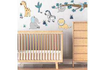 Lolli Living Nursery Wall decal Sticker set Urban Safari