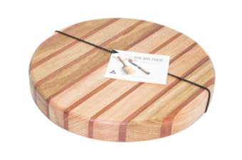 The Big Chop Round Board 33cm x 4cm Tasmanian Oak  Blackwood