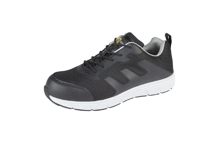 Grafters Mens Steel Toe Safety Trainers (Black/Grey) (14 UK)