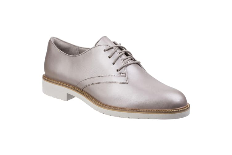Rockport Womens/Ladies Abelle Lace Up Leather Shoes (Dove) (5 UK)