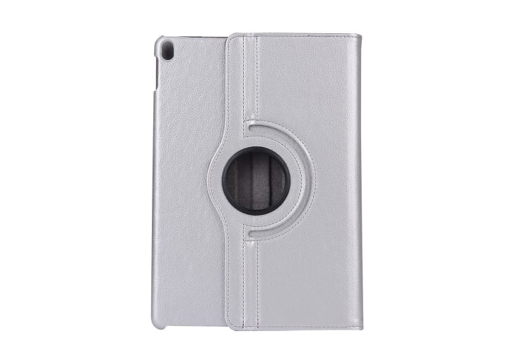 For iPad Air 3 (2019) Case Lychee Texture Stand PU Leather Folio Cover Silver