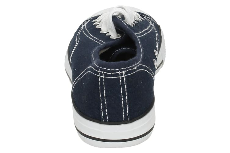 Spot On Childrens/Kids Low Cut Canvas Lace Up Shoes (Navy) (1 UK)