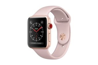 Apple Watch Series 3 (Gold, 38mm, Pink Sand Sport Band, GPS + Cellular)