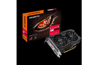 Gigabyte AMD Radeon RX560 GAMING OC 4GB DDR5 PCIe Video Card 8K 7680x4320 3xDisplays DVI HDM DP 1300/1287 MHz Windforce 2X CrossFire ~GV-RX560OC-4GD