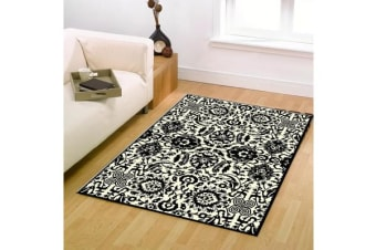 Funky Lace Design Rug Black