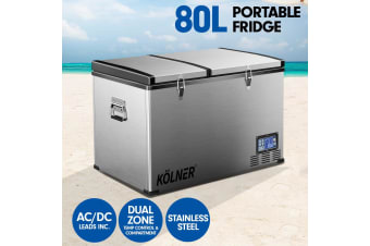 Kolner 80L Portable Fridge Cooler Freezer Camping
