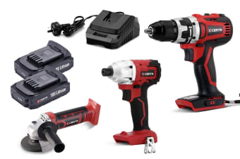 Certa PowerPlus 18V 3 Piece Set (Brushless Drill & Driver)