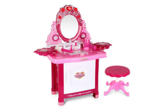 Keezi Kids Makeup Set Kit Make Up Kits Sets Vanity  Dressing Table Girl Toys Children Pretend Gift For Her