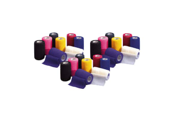 Vetrap Bandage Display Pack (Pack of 24) (Bright Colours) (4.5m x 10cm)