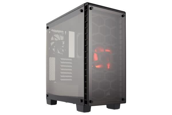 Corsair Crystal Series 460X SI - Tempered Glass, Compact ATX Mid-Tower Case (NO LED Fan and PSU Cover) (LS)
