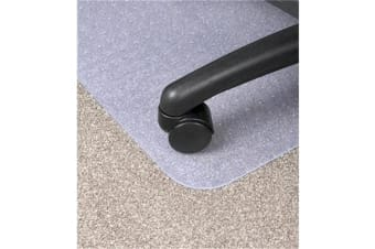 Dixon Chair mat 925x1200mm PVC Low To Medium Pile Key Hole Clear