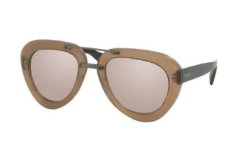 Prada PR28RS UBU4O1 52 Matte Dark Brown Womens Sunglasses