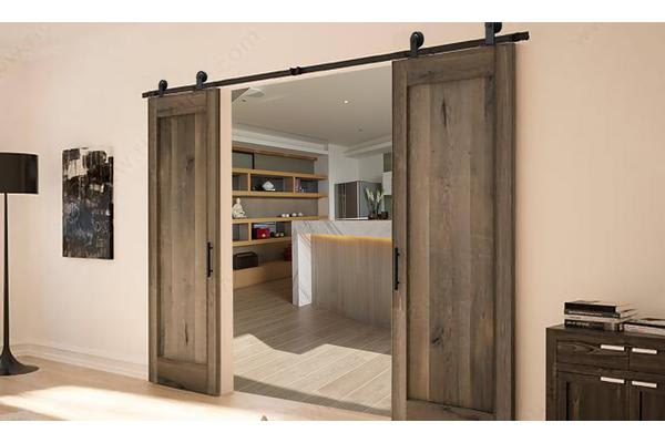 Antique Bd1004 Double Classic Sliding Barn Door Track Kit For Double