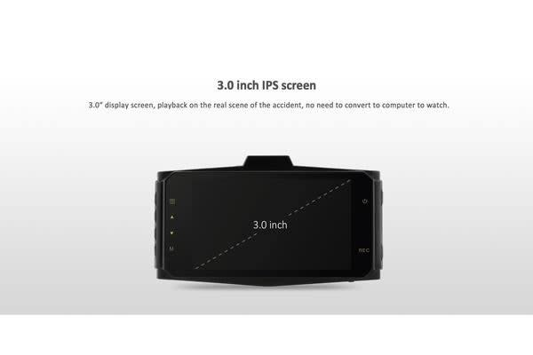 """Hd 1296P Dual Car Dvr Cam Front Rear Record Gps Support 3"""" Lcd Wide Lens G9Wb"""