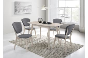 Dining Table 120 x 75cm Solid Wood 4 Seater - White Oak