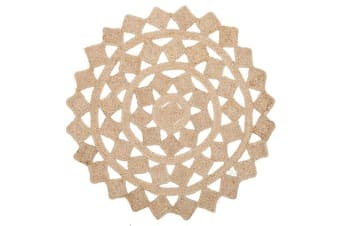 Round Jute Natural Tessellate Rug 240x240cm