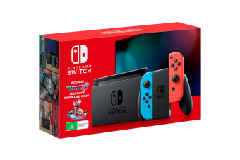 Nintendo Switch Console (2019) - Neon with Mario Kart 8 Deluxe