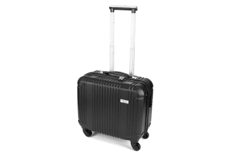 Business Solid Case Trolley Black 4 Wheels