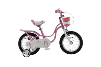 RoyalBaby Girls Kids Bike Little Swan 12 14 16 18 20 Inch Bicycle for 3-12 Years Old Child's Cycle with Basket 12-14-16 inch incl Training Wheels or 16-18 inch with Kickstand Bike White Pink