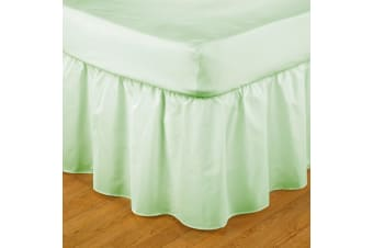 Belledorm Easy Fit Frilled Platform Valance (Willow) (Narrow Double)