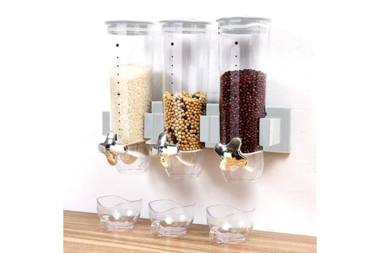 Wall Mounted Triple Cereal Dispenser