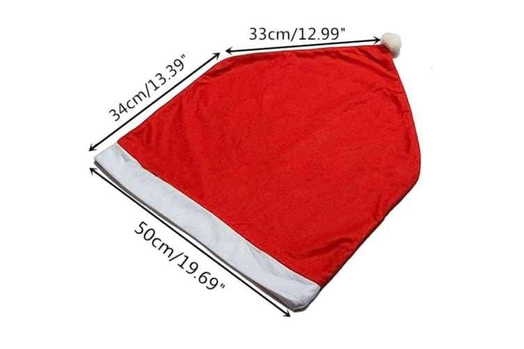 Christmas Chair Covers Tablecloth Runner Decoration Xmas Dinner Party Santa Gift - 6x Chair Covers