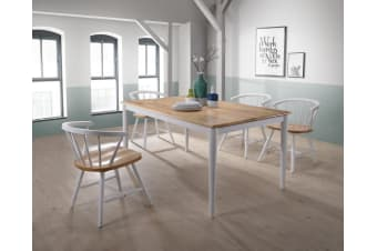 7pcs Scandinavian Dining Sets 1.5m Table 6 Chairs in Danish Natural Oak