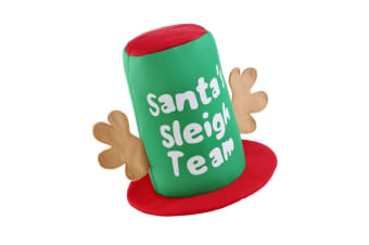 Christmas Shop Santas Sleigh Team Hat (Green/Red) (One Size)