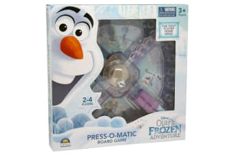 Disney Olaf's Frozen Adventure Press-O-Matic Board Game