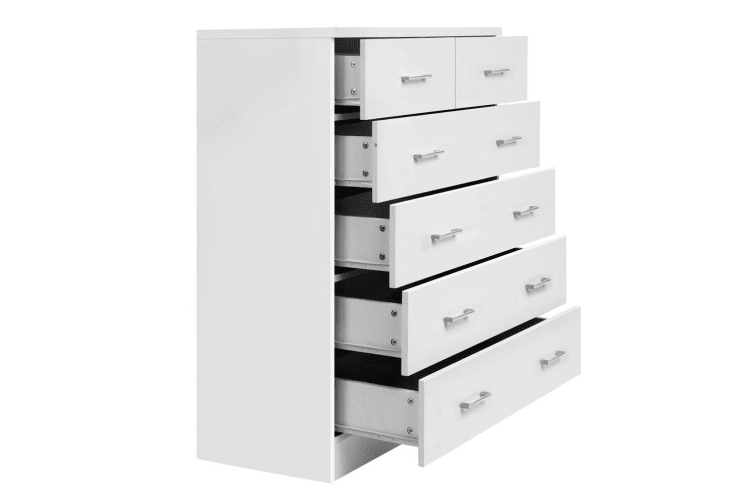 Artiss Tallboy Dresser 6 Chest of Drawers Table Cabinet Bedroom Storage White