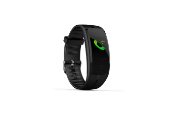 Smart Bracelet Qs100 Watch,Fitness Tracker Color Screen Smart Wristband Watch Black