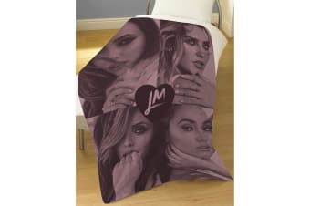 Little Mix Official LMX Fleece Blanket (Pink/Black)