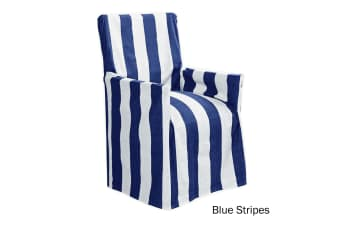Cotton Director Chair Cover Blue Stripes by IDC Homewares