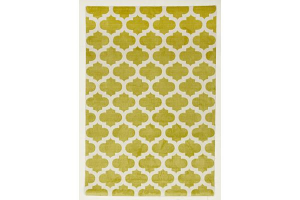 Trellis Stylish Design Rug Green 160x110cm