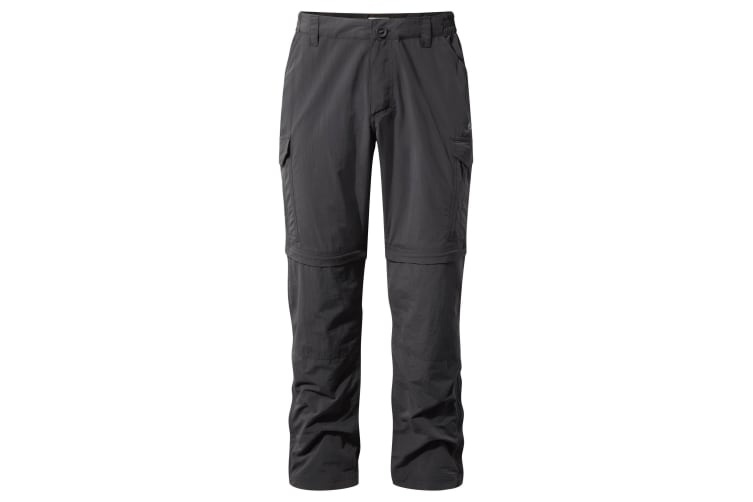 Craghoppers Mens NosiLife Convertible II Trousers (Black Pepper) (36S)