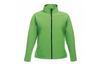 Regatta Womens/Ladies Ablaze Printable Softshell Jacket (Extreme Green/Black) (10 UK)