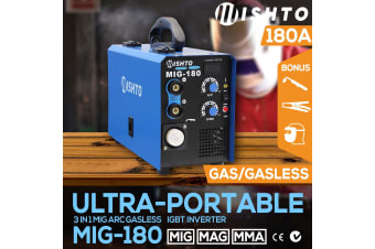 NEW 180 Amp MIG ARC Gas/Gasless Portable Welder Inverter Welding Machine MAG