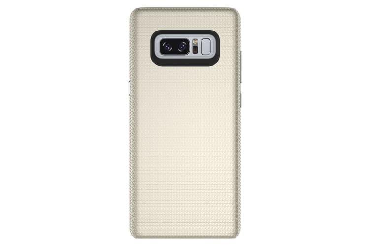 For Samsung Galaxy Note 8 Case Chrome Plate Armour Durable Shielding Cover Gold