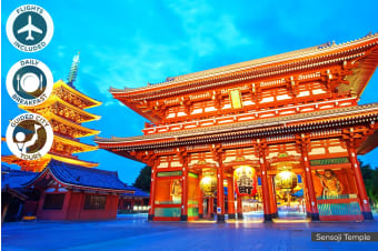 JAPAN: 8 Day Japan Tour Including Flights for One or Two