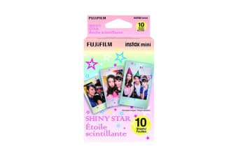 Fujifilm Instax Mini Shiny Star Film - 10 Sheets