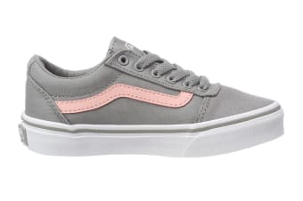 Vans Women's Ward Canvas Shoe (Grey/Pink)