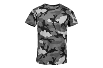 SOLS Mens Camo Short Sleeve T-Shirt (Grey Camo) (M)