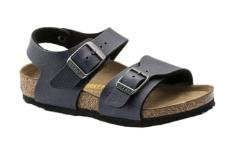 Birkenstock New York Kids BF Pull Up Navy Sandal