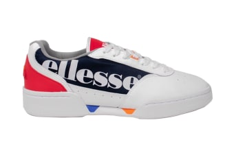 Ellesse Men's Piacentino Leather AM Shoe (White/Navy/Red, Size 8.5 US)