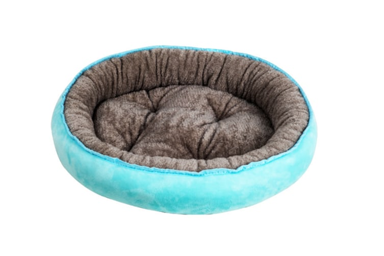 Select Mall Cute 4 Seasons Universal Pet Nest Deep Sleep Four Seasons Universal Warm Cat Litter Kennel Pet Supplies-Blue - Size S