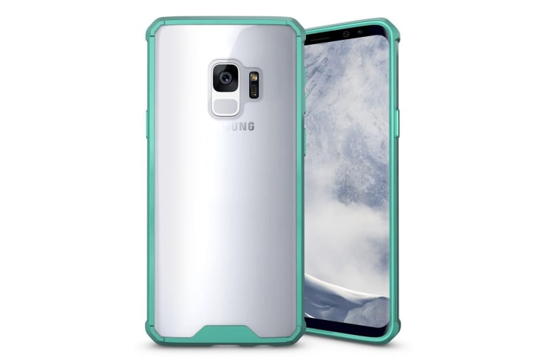 For Samsung Galaxy S9 Back Case Shockproof Transparent Armour Cover Green