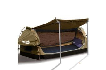 Dome Swags Free Standing in Khaki King Single