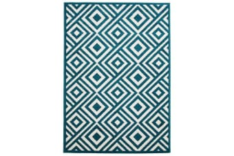 Indoor Outdoor Matrix Rug Peacock Blue 330x240cm